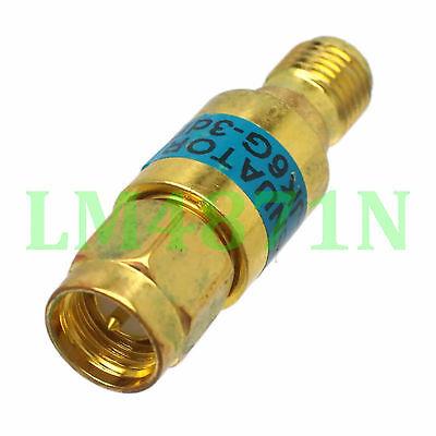 1pc Attenuator 2W 2 Watts DC-3 Ghz 3dB SMA RF coaxial Power M to jack F 50Ω gold