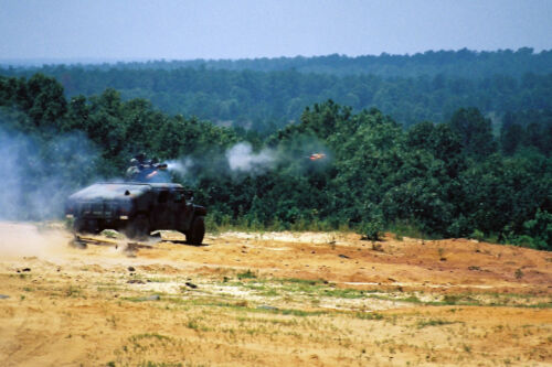 Benning TOW MISSILE From HUMMER Launch Professional Photo 8x12 Early 1990s Ft