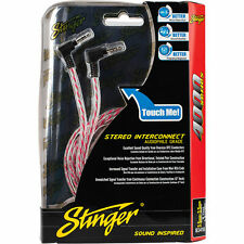 Stinger SI416 4000 Series Interconnects 6.0-Foot Right Angle 3.5mm to Right Angle
