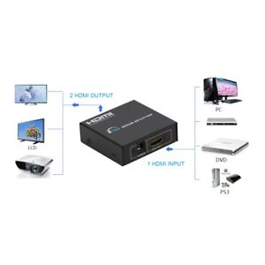 Details about Powered 4K HDMI Splitter Dual Monitor For Full HD 1080P  Support 4K/2K And 3D
