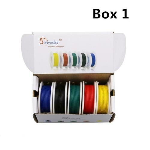 Electrical Wire Cable set 28//26//24//22//20//18 awg 5 colors Mix Stranded Wire Kit !