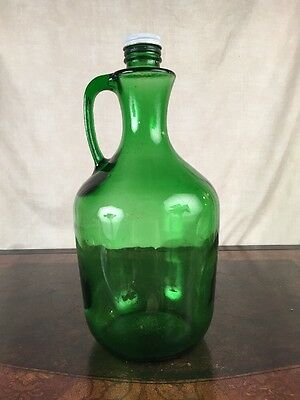Large Green Glass Decorative Bottle 3liter 101 Fl Ounces Ebay