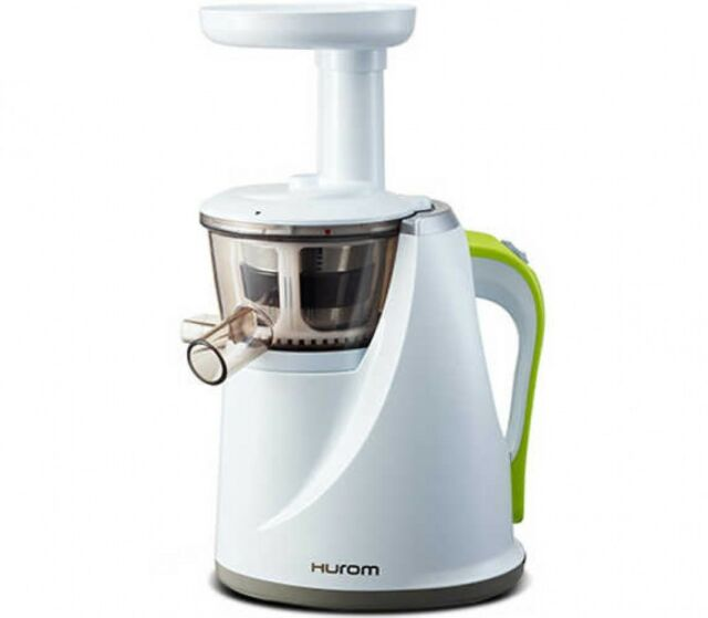 HUROM HU-100 Slow Rotational Speed Juicer White Low noise motor Shipp Japan EMS