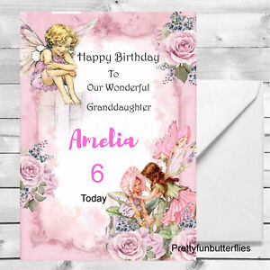 Personalised-Birthday-Card-1st-2nd-3rd-8th-Granddaughter-Daughter-Fairies