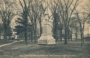 CANTON-NY-Soldiers-Monument-and-Park-1924