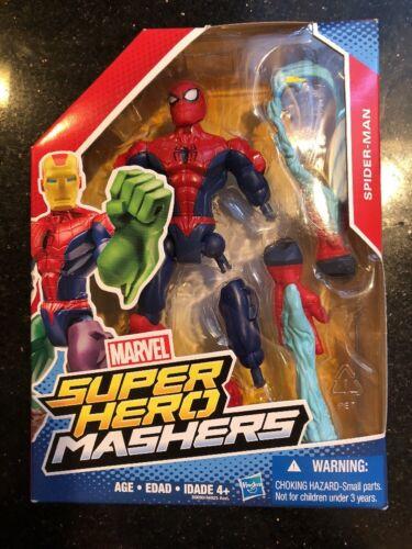 Marvel Super Hero Mashers Spider-Man Figure Hasbro New