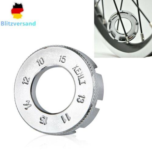 Fahrrad Speichenschlüssel 10-15 8 Speichengrößen Nippelspanner Speichenspanner