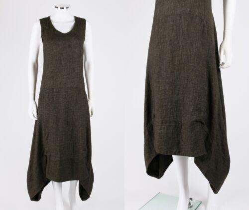 M Abito trasparente trasparente lino grigio in scollo in con antracite a taglia maglia V aaOSfgxqRw