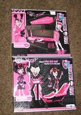 New Rare Monster High Doll Playsets Jewelry Box Coffin & Draculaura Powder Room