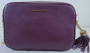 3f280c48529c Image is loading Michael-Michael-Kors-Ginny-Medium-Camera-Damson-Leather-