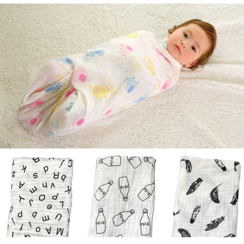 Soft Touch Large Cotton Muslin Swaddle Squares Blanket for Baby Comfortable Nice