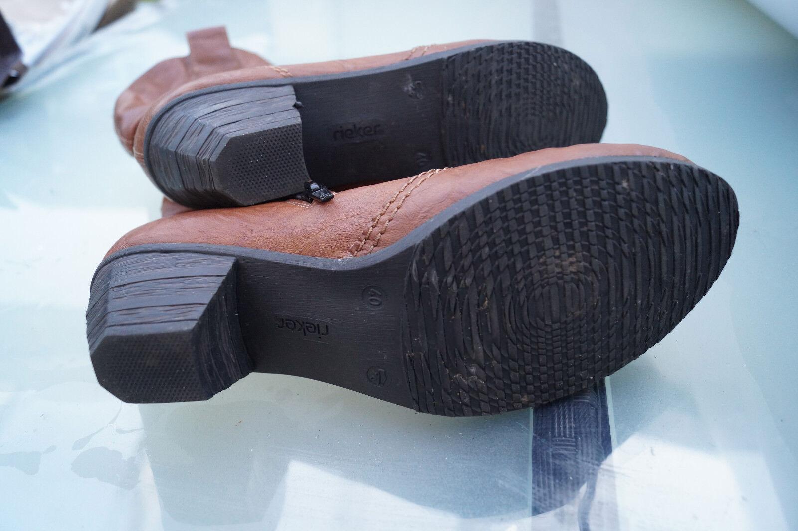 RIEKER Damen gefüttert Winter Schuhe Stiefel Stiefelette Stiefel Gr.40 braun gefüttert Damen #52 33551c