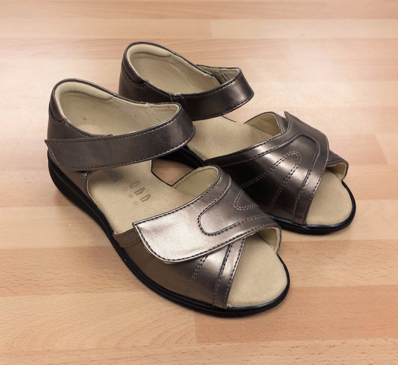 Spacieux Femmes Extra Cosyfeet Bronze Sandales Chaussures SMqzVpLUjG