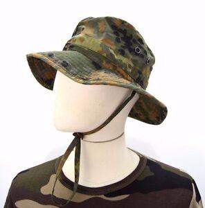 dc4cdf7f71a German Army Flecktarn Bush Hat Camo Camouflage Original Boonie ...