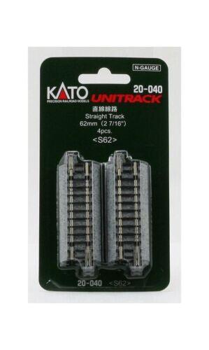 Kato 7078010 Gleis gerade 62 mm Spur N 4 Stück