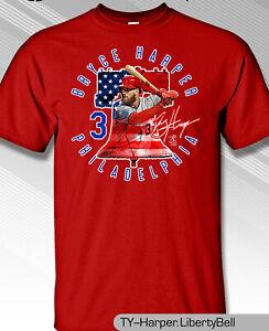 Philadelphia-Phillies-MLBPA-3-Bryce-Harper-LIBERTY-BELL-Youth-Boys-T-Shirt-Red