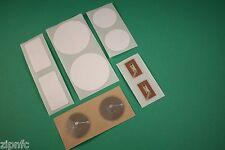 10 Misti chiaro PET & WHITE PVC NFC TAG ADESIVI NXP ntag213 ANDROID WINDOWS