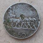 Regno d'Italia Emanuele III°: 50 Centesimi Leoni del 1925 - BB rigato - n. 871