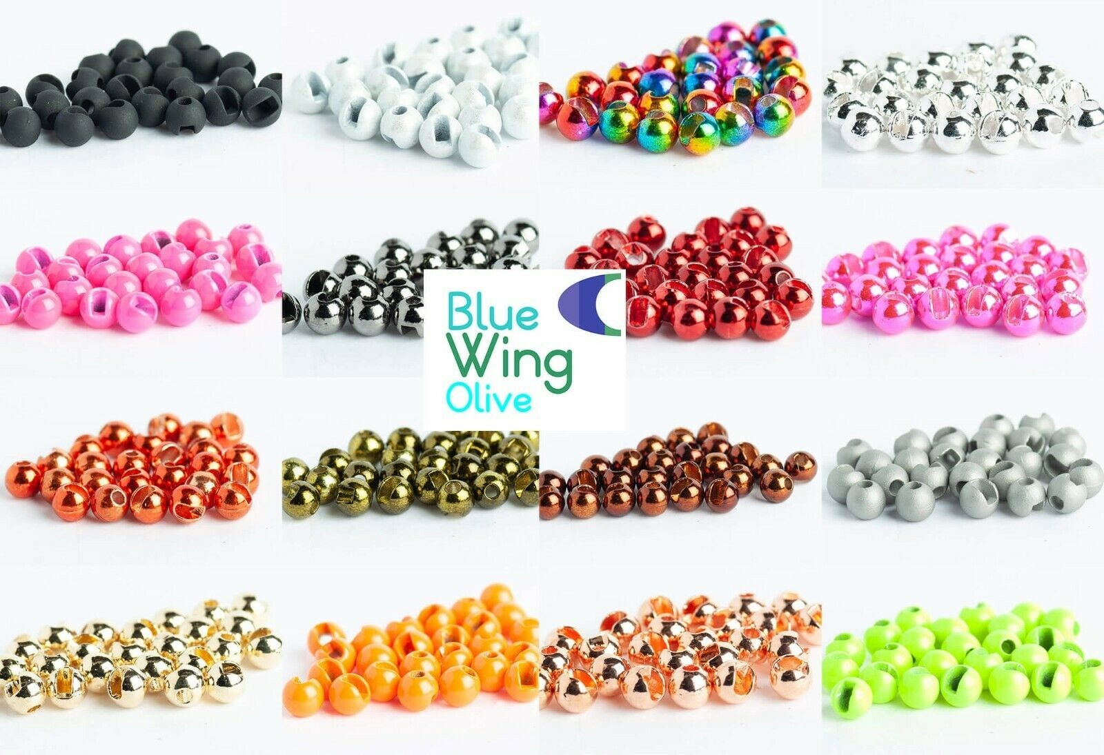 """100 Tungsten Fly Fishing Tying Bead Beads Gold//Silver//Copper//Black 2.7mm 7//64/"""""""