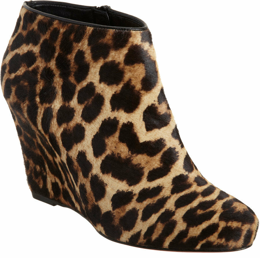 100% AUTHENTIC NEW WOMEN LOUBOUTIN MELISA PONY HAIR WEDGE BOOTS/BOOTIES US 7