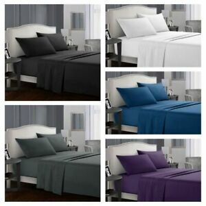 Twin-Queen-King-Bed-Sheet-Set-Soft-Microfiber-4-Piece-Deep-Pocket-Flat-Fitted