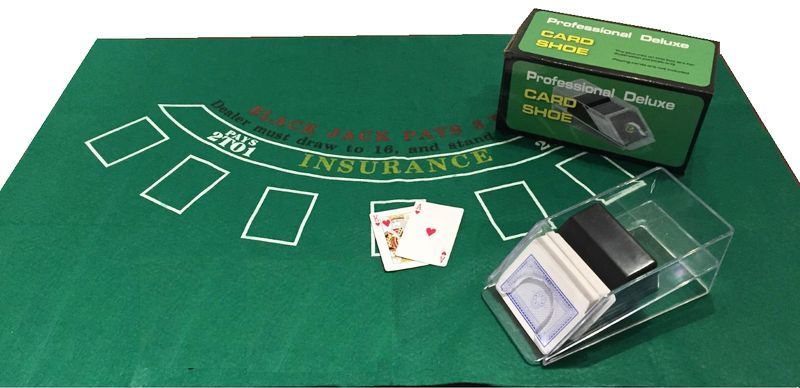 Blackjack Layout Full Size Felt Genuine Casino Quality Wheel of Madness