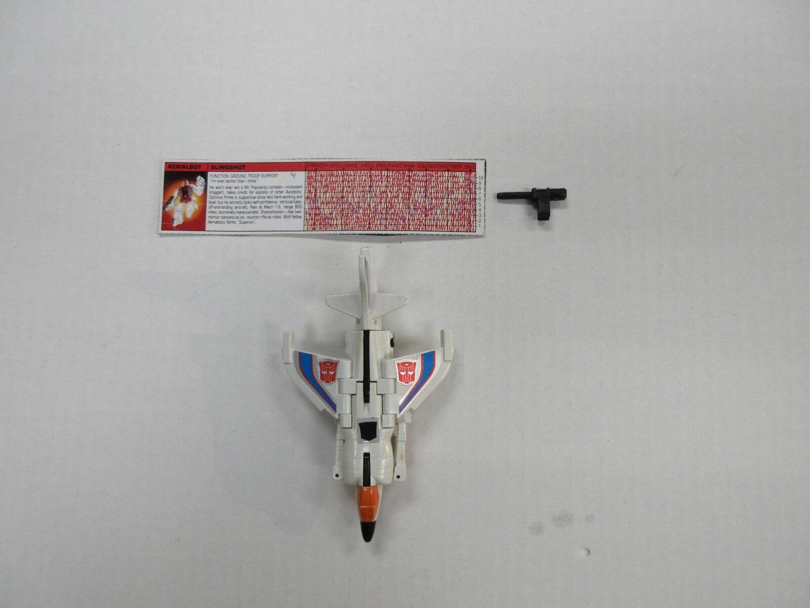 1986 G1 TRANSFORMERS SUPERION AERIALBOT SLINGSHOT 100% COMPLETE ROBOT TECH SPEC