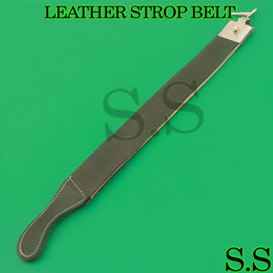 New-Brown-Barber-Leather-Strop-Straight-Razor-Sharpening-Shave-Shaving-Strap