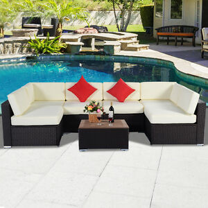7PC-Outdoor-Patio-Furniture-Wicker-Rattan-Sofa-Set-Poly-Wood-Table-Brown