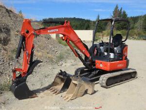 2010 Kubota U35-4 Mini Excavator Rubber Track Backhoe Aux Hyd Thumb bidadoo