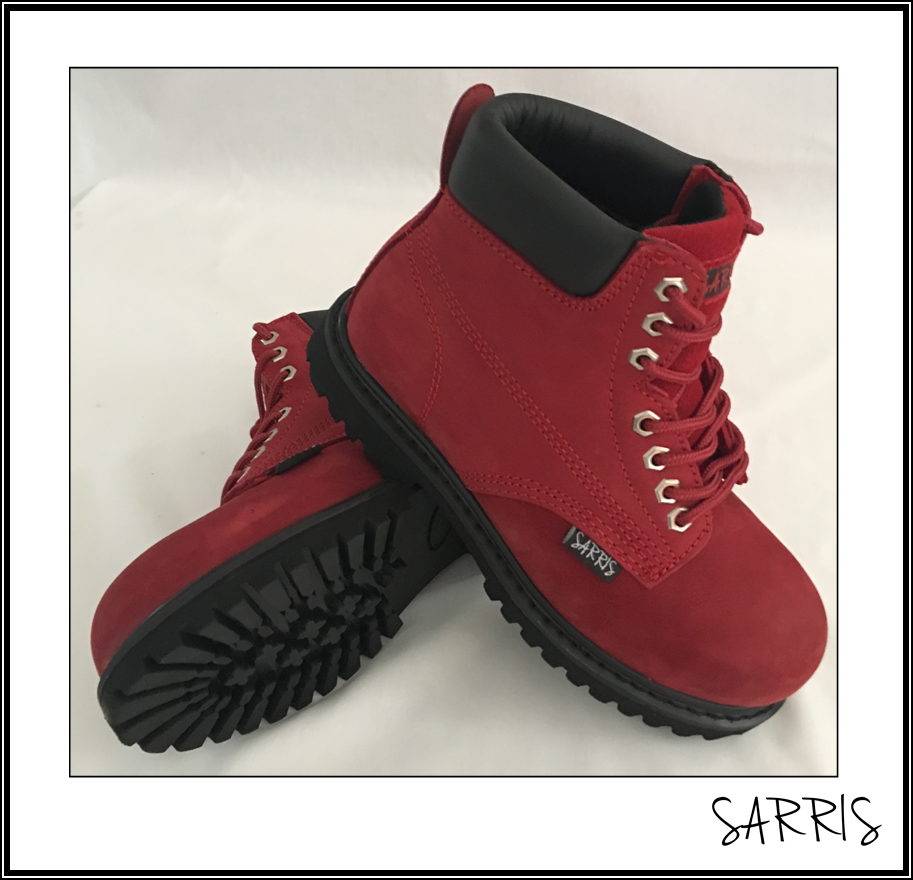 LADIES LACE UP SAFETY WORK BOOTS STEEL TOE CAP