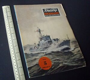 1970s/80s Vintage Maly Modelarz Poland Cut-Out Paper Model Kit. Gun Boat