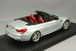 Model Car; 2012 BMW M6 Convertible (F12) Silver 1:18 scale  80432253656
