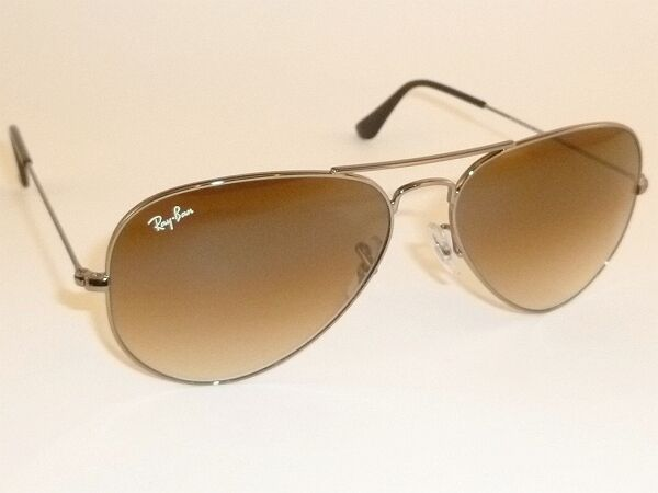 0a2fdd994bc1f7 Ray-Ban Aviator Rb3025 004 51 58mm Sunglasses Gunmetal Brown Gradient   eBay