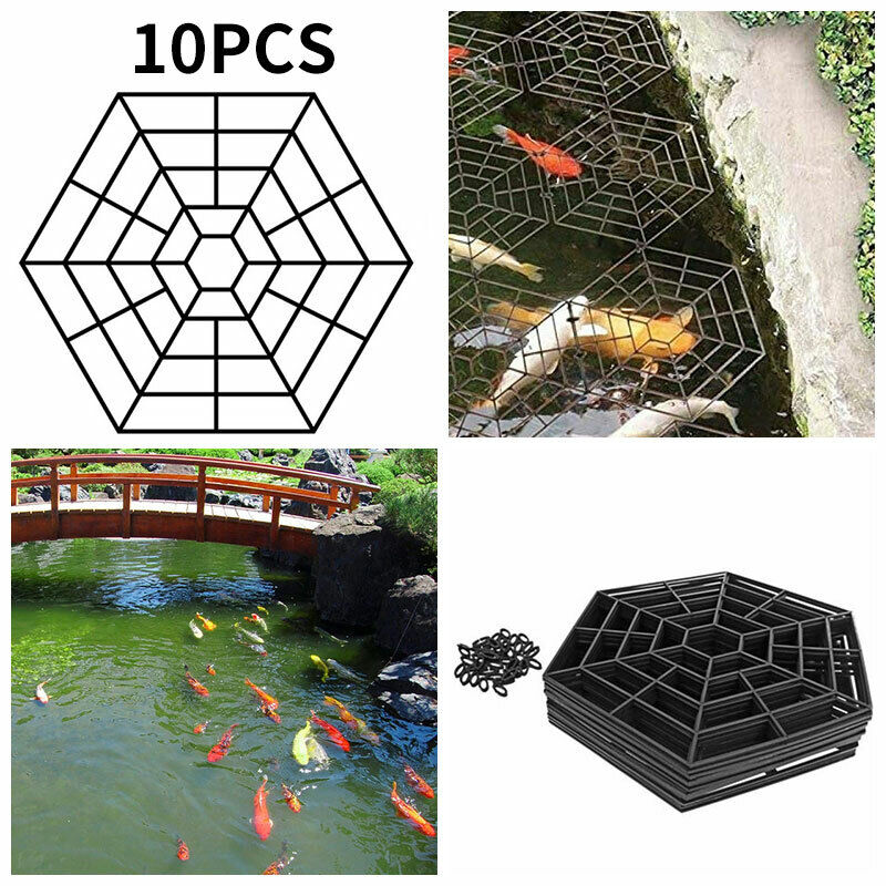 10 Piece Pond Guards Accessories Kit Pond NETTING POND PROTECTION Protects Fish
