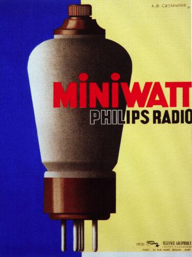 POSTER Decoration Miniwatts Philips Radio air tube.Wall Decor.Room Delight.278i