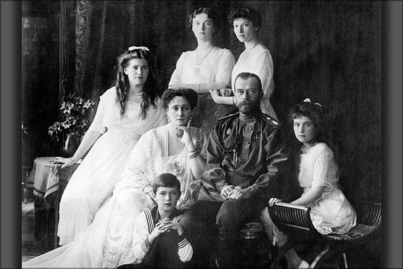 Poster, Molte Misure; Misure; Misure; Famiglia di Nicholas II di Russia Circa 616efb