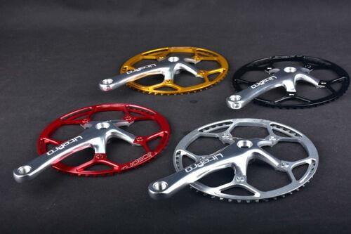 Details about  /Crankset Folding Road MTB Bike Crank arm 170mm Chainring 45 47 53 56 58T Black