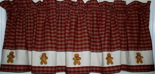 Gingerbread Valances Tiers Runners Country Primitive Gingerbread Kitchen Decor