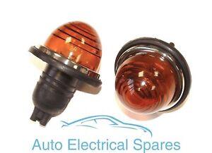 Lucas-type-L594-indicator-flasher-lamp-AMBER-GLASS-x-2-1-PAIR