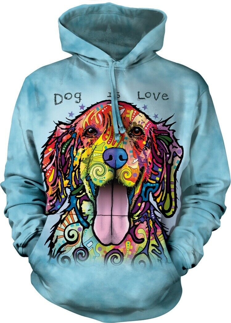 The Mountain Unisex Erwachsen Dog Is Love Pet Kapuzenpulli