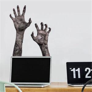 Horror-Glass-Window-Film-Stickers-Decor-Halloween-Ghost-Hand-Zombie-Wall-Sticker