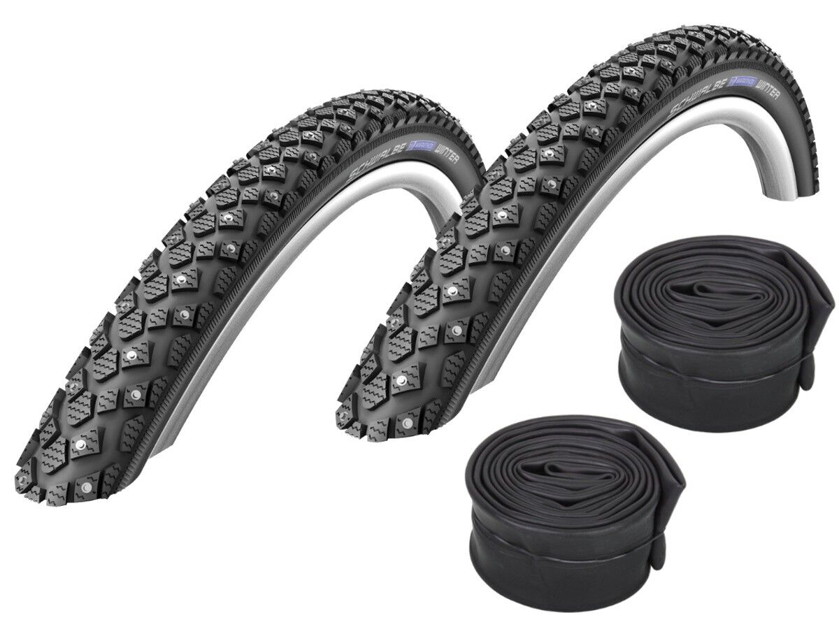 2 Pcs Schwalbe Marathon Winter Spike Tire 20 28   all Sizes + Hoses