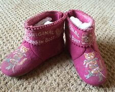 VTG Original Puss In Boots Child's Shoes Red Felt Cat Decoration F.S. Co