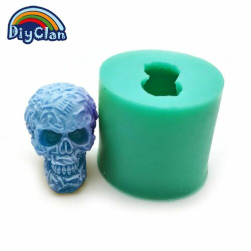 3D Skull Candle Silicone Mold DIY Cake Pudding Jelly Dessert Chocolate Handmade