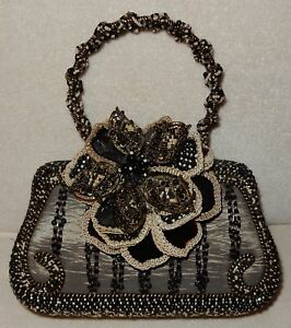 Image Is Loading Mary Frances Beaded Handbag Purse Fl Flower