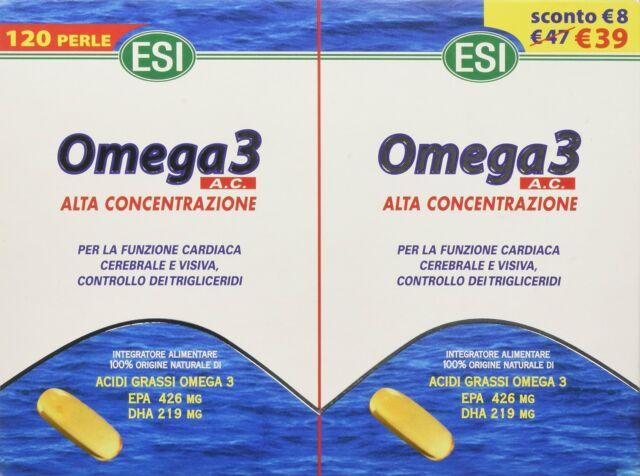 ESI Omega 3 Alta Concentrazione Integratore Alimentare 120 Perle