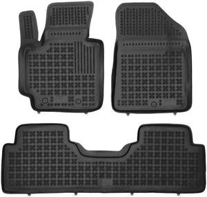 4 pezzi neri in gomma tappetino per Kia Soul anno 2009-2013