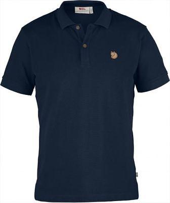 Fjallraven Ovik Polo Camicia Blu Navy (f81511)-mostra Il Titolo Originale Buona Conservazione Del Calore