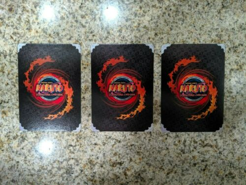 Naruto CCG TCG Card Game 3x Two Tails N 1365 Uncommon LP-NM Hunted Beast